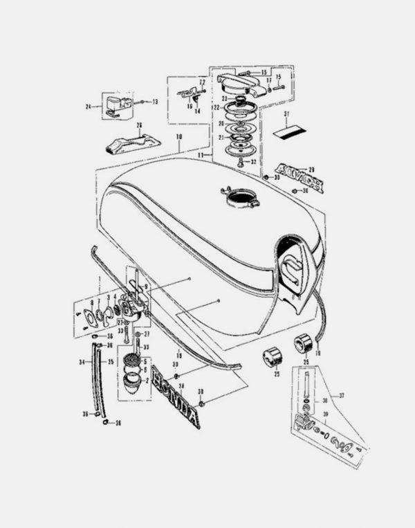 Fuel Tank, Cock Diagram