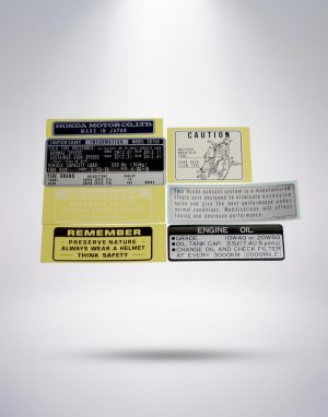 Caution Stickers (Honda Official)