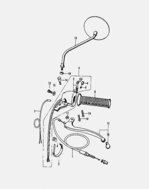 Diagram Left Handle Switch Cable